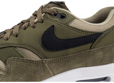 Chaussures Nike Air Max 1 olive femme vue dessus