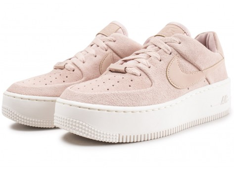 Chaussures Nike Air Force 1 Sage Low rose vue intérieure