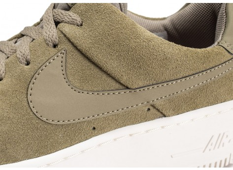 Chaussures Nike Air Force 1 Sage Low Kaki femme vue dessus