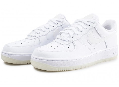 Chaussures Nike Air Force 1 ´07 Essential blanche femme vue intérieure