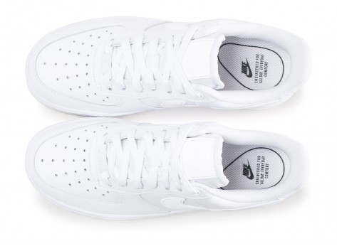 Chaussures Nike Air Force 1 ´07 Essential blanche femme vue arrière