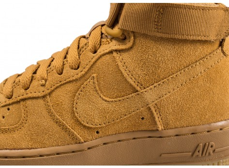 Chaussures Nike Air Force 1 High LV8 wheat junior vue dessus