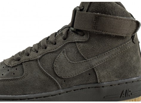 Chaussures Nike Air Force 1 High LV8 Sequoia junior  vue dessus