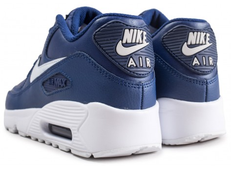 Chaussures Nike Air Max 90 Leather blue void junior  vue dessous