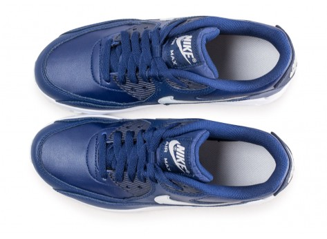 Chaussures Nike Air Max 90 Leather blue void junior  vue arrière