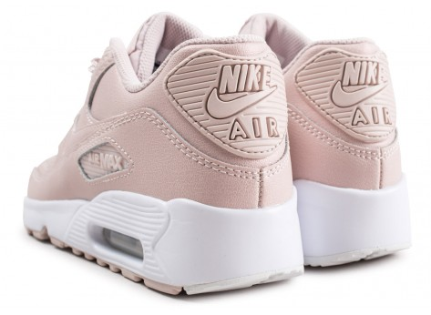Chaussures Nike Air Max 90 Leather SS rose junior  vue dessous