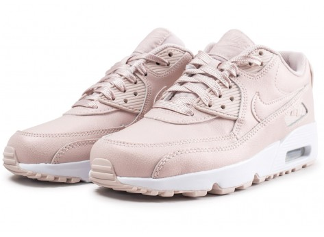 Chaussures Nike Air Max 90 Leather SS rose junior  vue intérieure
