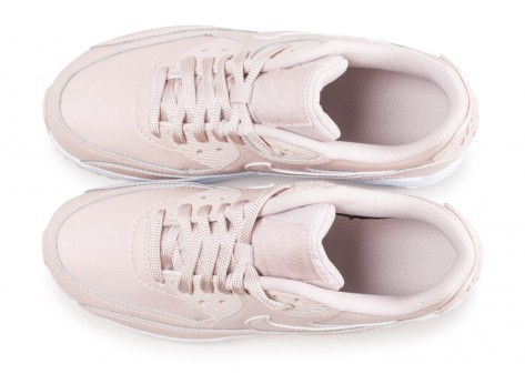 Chaussures Nike Air Max 90 Leather SS rose junior  vue arrière