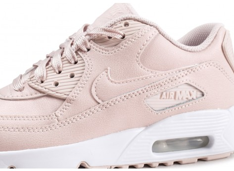 Chaussures Nike Air Max 90 Leather SS rose junior  vue dessus