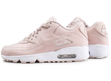 Chaussures Nike Air Max 90 Leather SS rose junior  vue extérieure