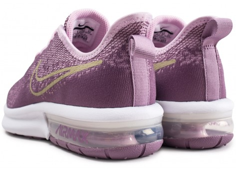 Chaussures Nike Air Max Sequent 4 violet et or junior vue dessous
