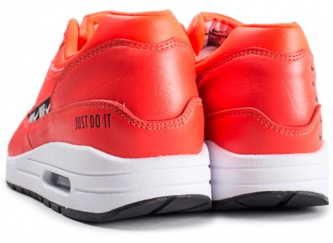 Chaussures Nike Air Max 1 SE Overbranded rouge femme vue dessous