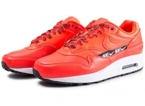 Chaussures Nike Air Max 1 SE Overbranded rouge femme vue intérieure