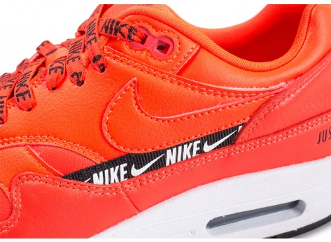 Chaussures Nike Air Max 1 SE Overbranded rouge femme vue dessus
