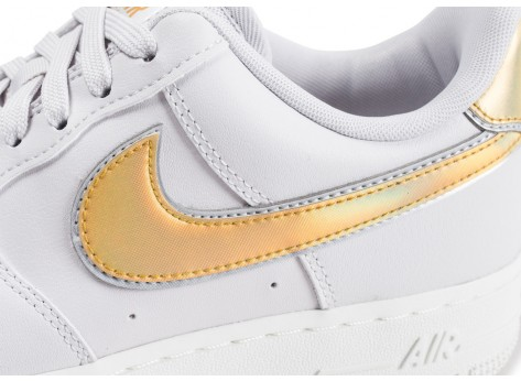 Chaussures Nike Air Force 1 '07 Metallic clash grise et or femme vue dessus