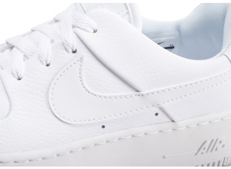 Chaussures Nike Air Force 1 Sage Low triple blanc femme vue dessus