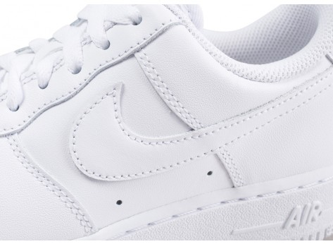 Chaussures Nike Air Force 1 '07 blanche femme vue dessus