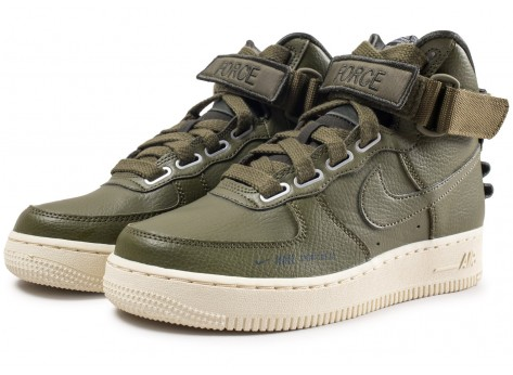 Chaussures Nike Air Force 1 High Utility Olive femme vue intérieure