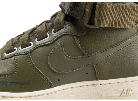 Chaussures Nike Air Force 1 High Utility Olive femme vue dessus