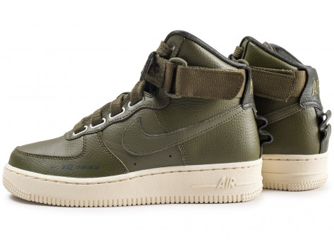 Chaussures Nike Air Force 1 High Utility Olive femme vue extérieure