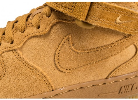 Chaussures Nike Air Force 1 Mid LV8 Wheat enfant vue dessus