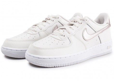 Chaussures Nike Air Force 1 Low blanc or rose enfant vue intérieure