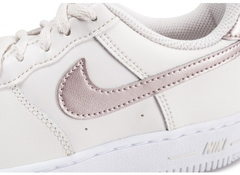 Chaussures Nike Air Force 1 Low blanc or rose enfant vue dessus