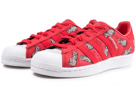 Chaussures adidas Superstar The Farm Company rouge femme vue intérieure