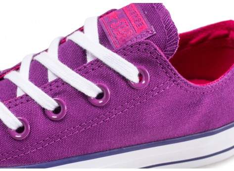 Chaussures Converse Chuck Taylor All Star Low violet femme  vue dessus