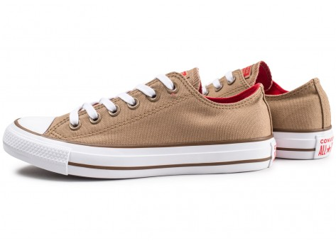 Chaussures Converse Chuck Taylor All Star Low marron vue extérieure
