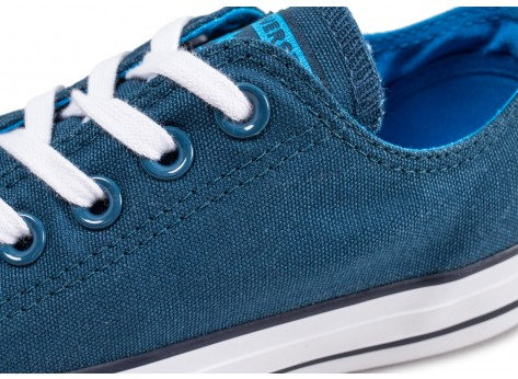Chaussures Converse Chuck Taylor All Star low bleue femme vue dessus