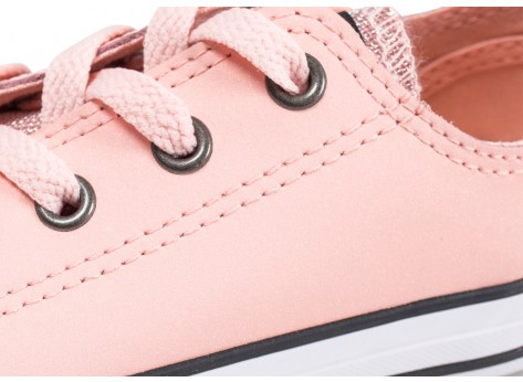 Chaussures Converse Chuck Taylor All Star OX Glitter rose enfant  vue dessus