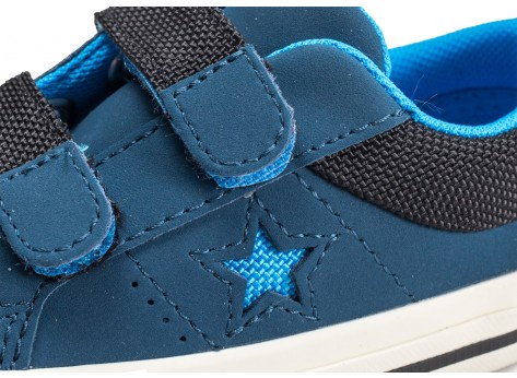 Chaussures Converse One Star 2V OX Straps bleu vue dessus