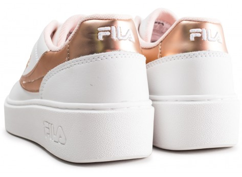 Chaussures Fila Overstate Low blanche et or junior vue dessous