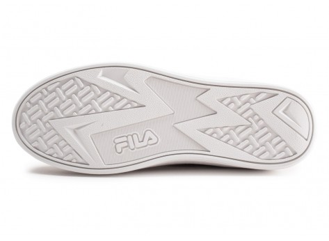 Chaussures Fila Overstate Low blanche et or junior vue avant