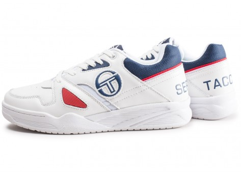 Chaussures Sergio Tacchini Top Play blanche et rouge vue extérieure