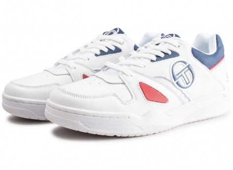 Chaussures Sergio Tacchini Top Play blanche et rouge vue intérieure