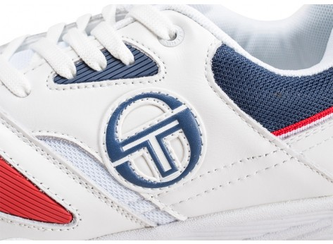 Chaussures Sergio Tacchini Top Play blanche et rouge vue dessus