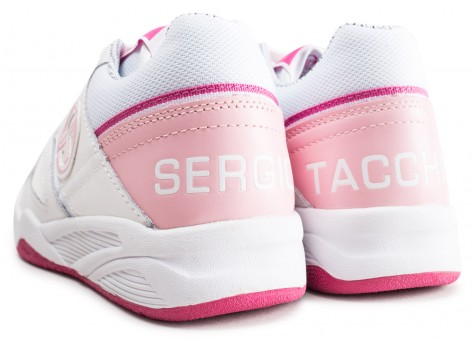 Chaussures Sergio Tacchini Top Play W rose et blanche vue dessous