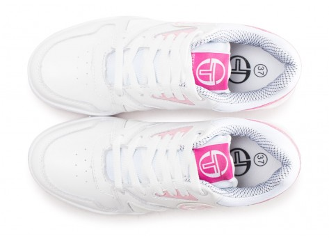 Chaussures Sergio Tacchini Top Play W rose et blanche vue arrière