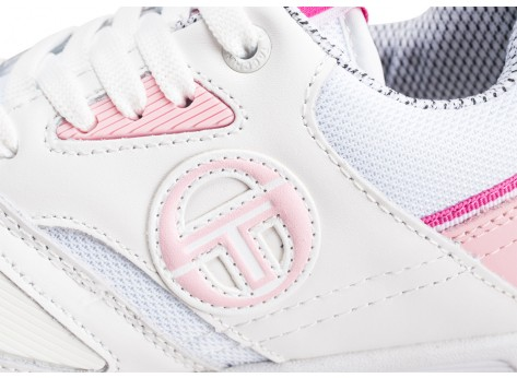 Chaussures Sergio Tacchini Top Play W rose et blanche vue dessus