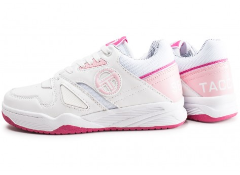 Chaussures Sergio Tacchini Top Play W rose et blanche vue extérieure