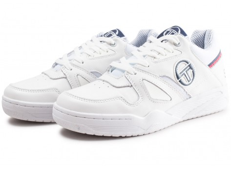 Chaussures Sergio Tacchini Top Play W blanche et bleue vue intérieure