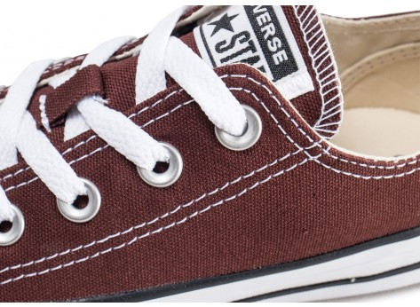 Chaussures Converse Chuck Taylor All Star Low marron femme vue dessus