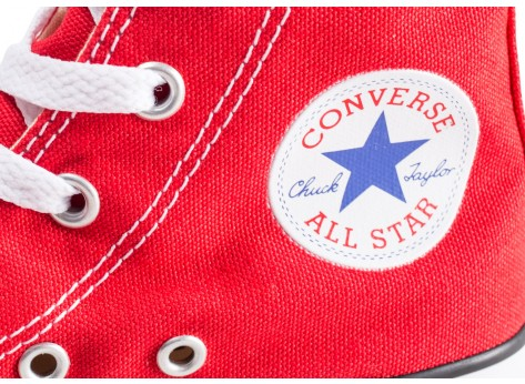 Chaussures Converse Chuck Taylor All Star Hi rouge enfant vue dessus