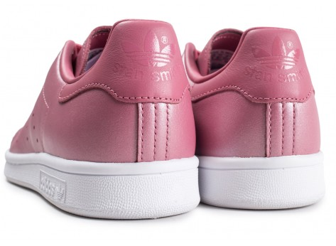 Chaussures adidas Stan Smith Shiny rose femme vue dessous
