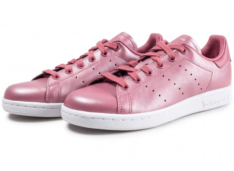 Chaussures adidas Stan Smith Shiny rose femme vue intérieure