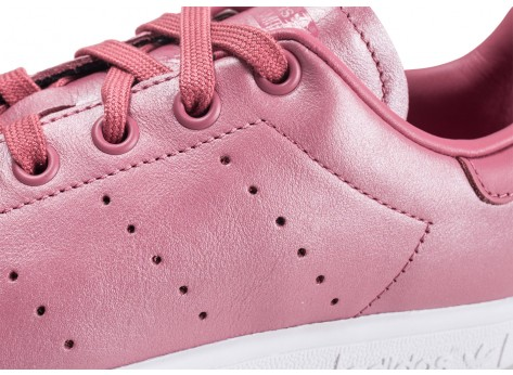 Chaussures adidas Stan Smith Shiny rose femme vue dessus