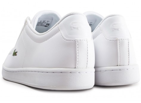 Chaussures Lacoste Carnaby blanche junior vue dessous