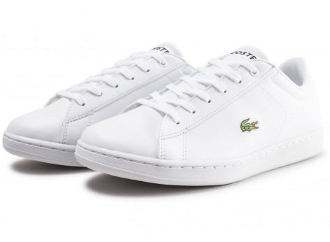 Chaussures Lacoste Carnaby blanche junior vue intérieure